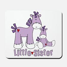 Sock Pony Duo Little Sister Mousepad