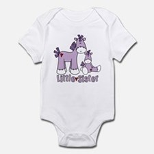 Sock Pony Duo Little Sister Infant Bodysuit