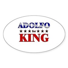 ADOLFO for king Oval Decal