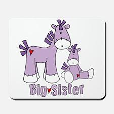 Sock Pony Duo Big Sister Mousepad