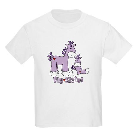 Sock Pony Duo Big Sister Kids Light T-Shirt