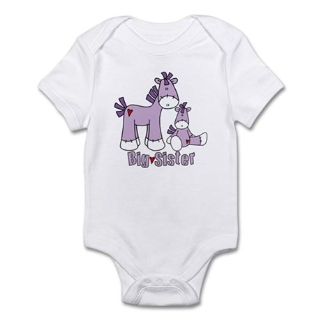 Sock Pony Duo Big Sister Infant Bodysuit
