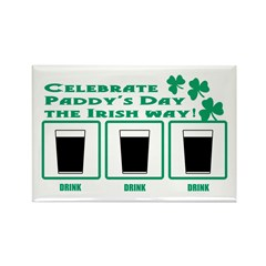 Celebrate Paddy's Day Rectangle Magnet (10 pack)