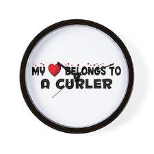 Belongs To A Curler Wall Clock