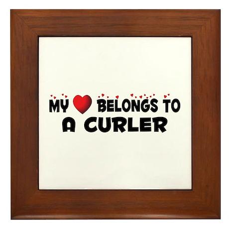 Belongs To A Curler Framed Tile