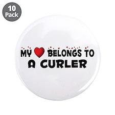 """Belongs To A Curler 3.5"""" Button (10 pack)"""