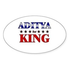 ADITYA for king Oval Decal