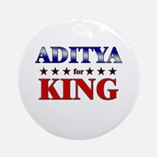 ADITYA for king Ornament (Round)