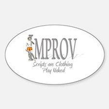 Improv Oval Decal