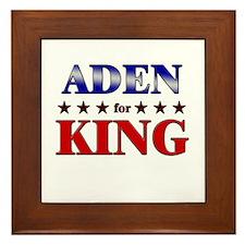 ADEN for king Framed Tile