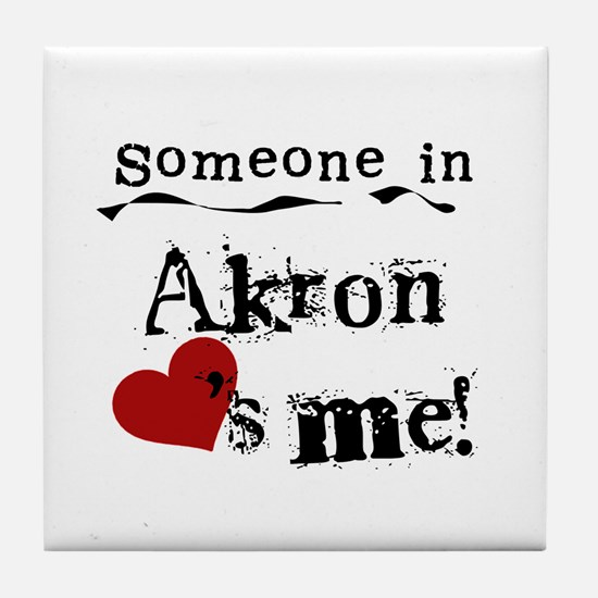 Akron Loves Me Tile Coaster