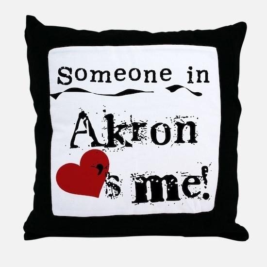 Akron Loves Me Throw Pillow