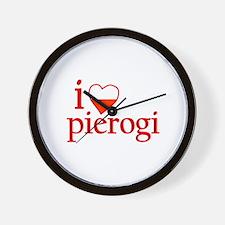 I Love Pierogi Wall Clock