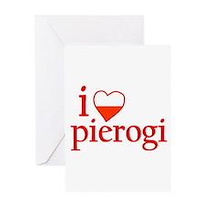 I Love Pierogi Greeting Card