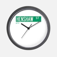 Henshaw Street in NY Wall Clock