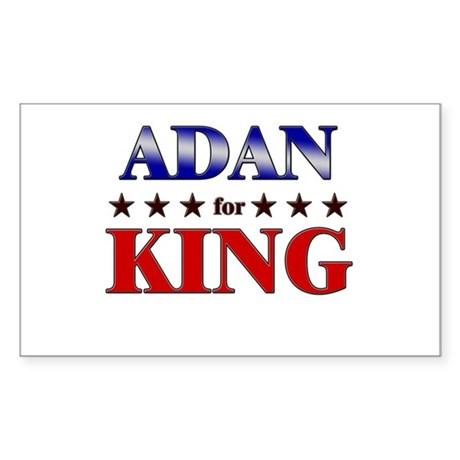 ADAN for king Rectangle Sticker
