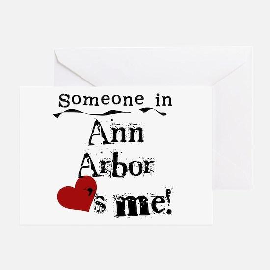 Ann Arbor Loves Me Greeting Card