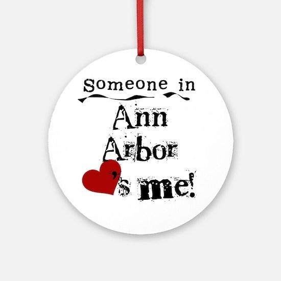 Ann Arbor Loves Me Ornament (Round)