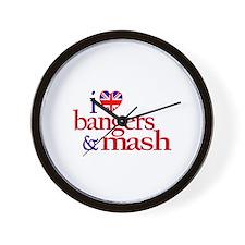 I Love Bangers and Mash Wall Clock