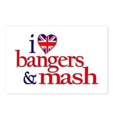 I Love Bangers and Mash Postcards (Package of 8)