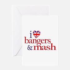 I Love Bangers and Mash Greeting Card