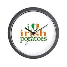 I Love Irish Potatoes Wall Clock