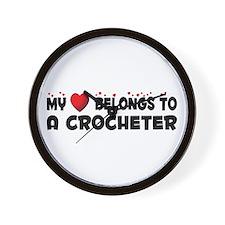 Belongs To A Crocheter Wall Clock