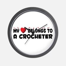 Belongs To A Crocheter Wall Clock