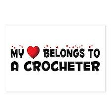 Belongs To A Crocheter Postcards (Package of 8)