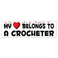 Belongs To A Crocheter Bumper Bumper Sticker
