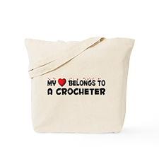 Belongs To A Crocheter Tote Bag