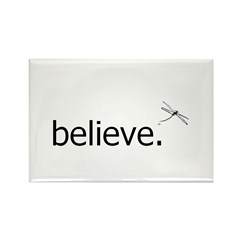 Dragonfly Forest Believe Rectangle Magnet (100 pac