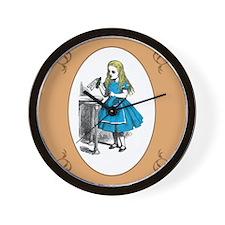 Cute Alice in wonderland drink me Wall Clock