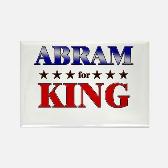ABRAM for king Rectangle Magnet
