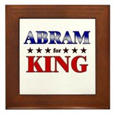 ABRAM for king Framed Tile
