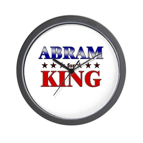 ABRAM for king Wall Clock