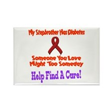 Stepbrother diabetes Rectangle Magnet