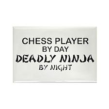 Chess Player Deadly Ninja Rectangle Magnet