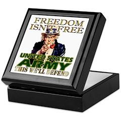 U.S. Army Freedom Isn't Free Keepsake Box
