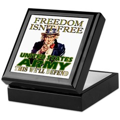 U.S. Army Freedom Isn't Free Keepsake Box