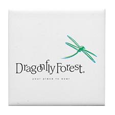 Dragonfly Forest Logo Tile Coaster