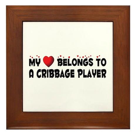 Belongs To A Cribbage Player Framed Tile