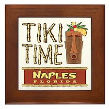 Naples Tiki Time - Framed Tile