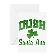 Santa Ana Irish Greeting Card