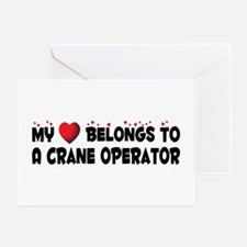 Belongs To A Crane Operator Greeting Card