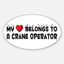 Belongs To A Crane Operator Oval Decal