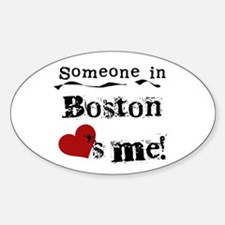 Boston Loves Me Oval Decal