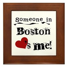 Boston Loves Me Framed Tile