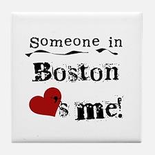 Boston Loves Me Tile Coaster