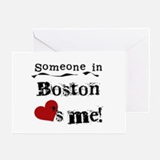 Boston Loves Me Greeting Card